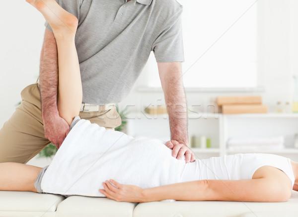 Chiropractor bacak cerrahi el spor vücut Stok fotoğraf © wavebreak_media