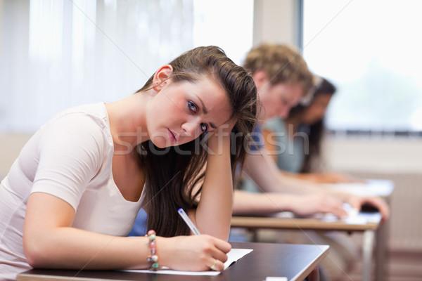 深刻 女性 書く 教室 幸せ 学生 ストックフォト © wavebreak_media