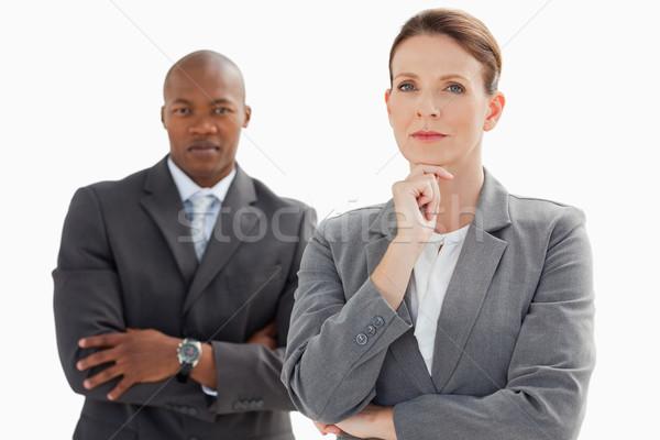 деловая женщина Постоянный бизнесмен голову стороны Сток-фото © wavebreak_media
