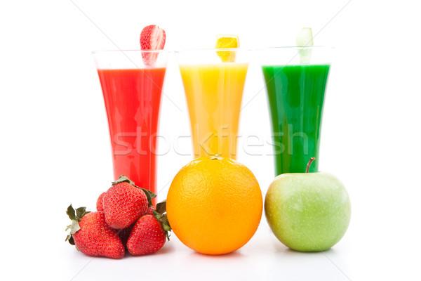 Fruits plein verres blanche fruits orange Photo stock © wavebreak_media