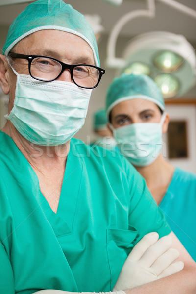 Chirurgo braccia collega chirurgico stanza uomo Foto d'archivio © wavebreak_media