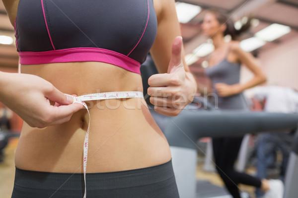 Remek mér derék tornaterem test egészség Stock fotó © wavebreak_media
