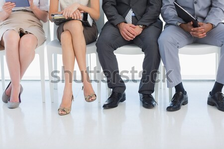 Csoport jólöltözött üzletemberek vár váróterem iroda Stock fotó © wavebreak_media