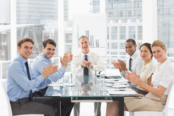 Business people clapping the camera at a meeting Stock photo © wavebreak_media