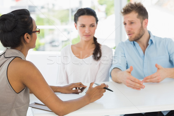 Terapist çift oturma büro adam Stok fotoğraf © wavebreak_media