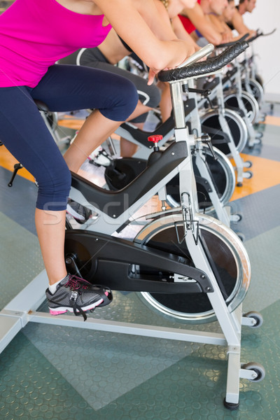 Spin class working out in a row Stock photo © wavebreak_media