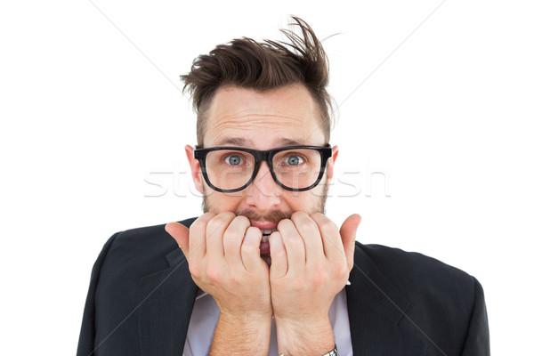 Geeky nervous businessman looking at camera  Stock photo © wavebreak_media