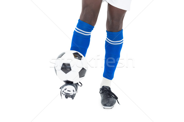 Blu calze calci palla bianco Foto d'archivio © wavebreak_media