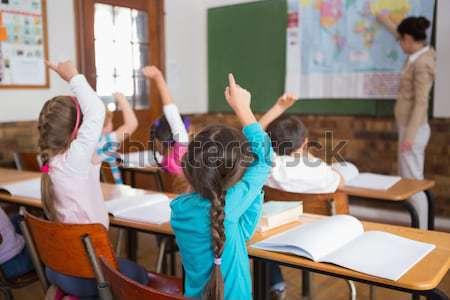 Aranyos iskolás kezek általános iskola iskola gyermek Stock fotó © wavebreak_media