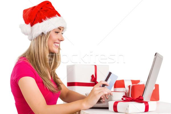 Foto d'archivio: Shopping · online · laptop · bianco