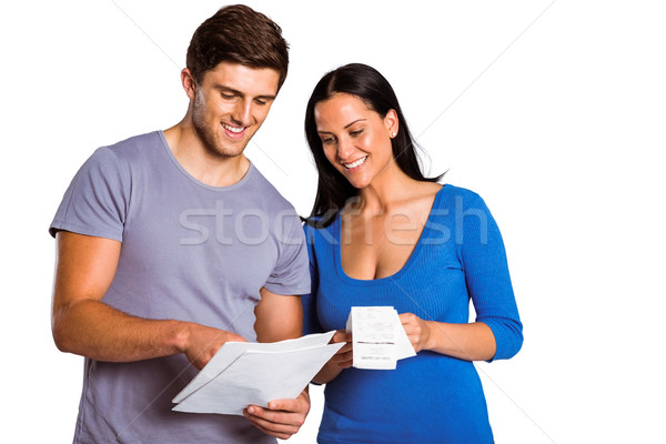 Young couple reading their bills Stock photo © wavebreak_media