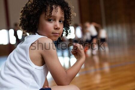 Encajar Pareja pie gimnasio deporte Foto stock © wavebreak_media