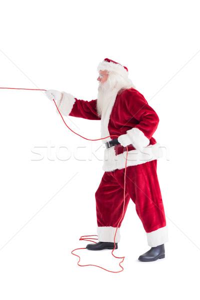 что-то веревку белый человека Рождества Сток-фото © wavebreak_media