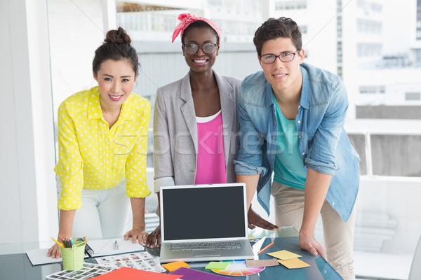 Young creative team having a meeting Stock photo © wavebreak_media