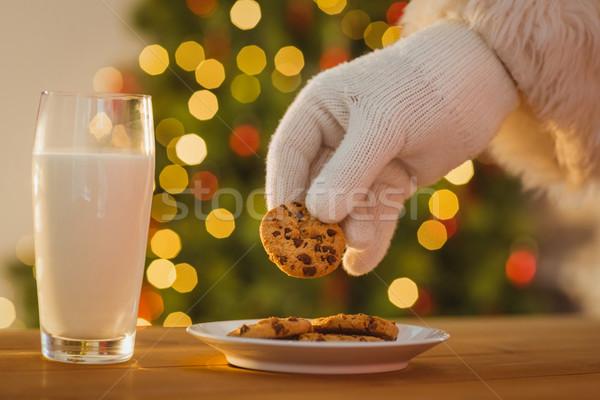 Strony Święty mikołaj cookie tabeli domu Zdjęcia stock © wavebreak_media