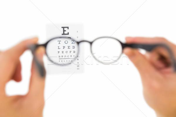 óculos para cima ler branco mãos Foto stock © wavebreak_media