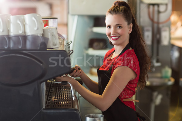 Barista beker koffie cafe business Stockfoto © wavebreak_media