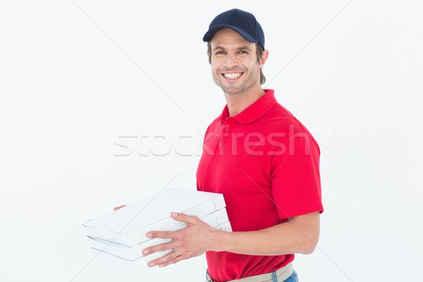 Gelukkig pizza dozen portret Stockfoto © wavebreak_media