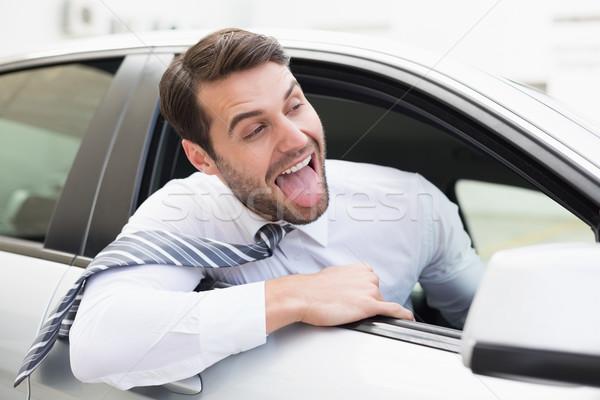 気楽な ビジネスマン 座って 座席 車 ビジネス ストックフォト © wavebreak_media