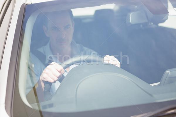 Homem sessão roda carro retrato Foto stock © wavebreak_media