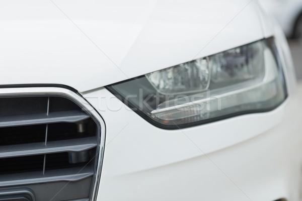 Közelkép fényszóró fehér autó Stock fotó © wavebreak_media