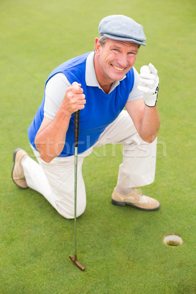 笑みを浮かべて ゴルファー 緑 ゴルフコース ストックフォト © wavebreak_media
