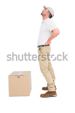 Mensajero sufrimiento dolor de espalda blanco hombre cuadro Foto stock © wavebreak_media