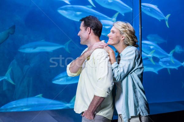 幸せ カップル 見える 魚 タンク 水族館 ストックフォト © wavebreak_media
