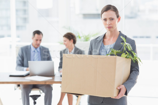 Businesswoman leaving office after being fired Stock photo © wavebreak_media