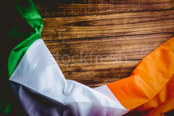 Ireland flag on wooden table Stock photo © wavebreak_media