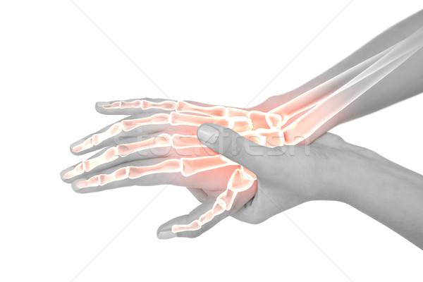 Ossos mulher mão dor composição digital corpo Foto stock © wavebreak_media