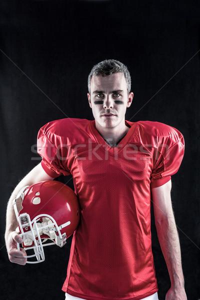 Ernstig amerikaanse voetballer naar camera zwarte Stockfoto © wavebreak_media