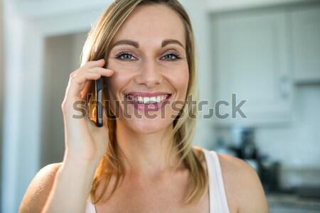 Woman on the phone Stock photo © wavebreak_media