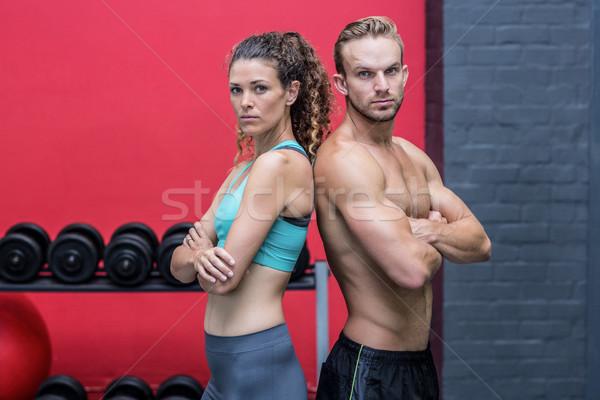 Izmos pár hát komoly nő egészség Stock fotó © wavebreak_media
