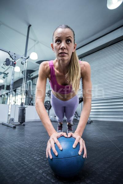 Muscular mujer posición salud Foto stock © wavebreak_media