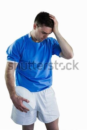 Teleurgesteld rugby speler hoofd Stockfoto © wavebreak_media