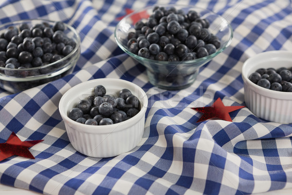 Black berries in bowls with 4th july theme Stock photo © wavebreak_media