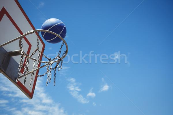 Alulról fotózva kilátás kék kosárlabda kék ég égbolt Stock fotó © wavebreak_media