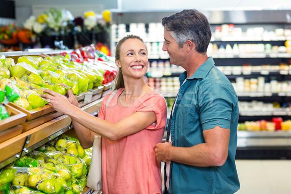 Boldog pár áruház oldalnézet üzlet nő Stock fotó © wavebreak_media