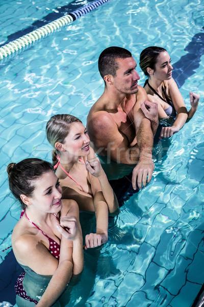 Fitness grupy aerobik basen wody Zdjęcia stock © wavebreak_media