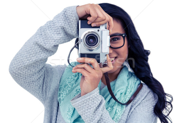 Asian donna foto fotocamera digitale bianco Foto d'archivio © wavebreak_media