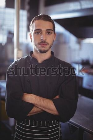 Masculina chef pie comerciales cocina retrato Foto stock © wavebreak_media