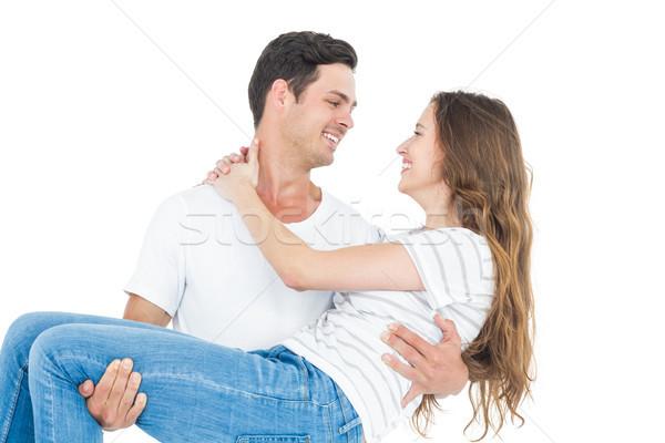 дружок подруга белый женщины улыбаясь Сток-фото © wavebreak_media
