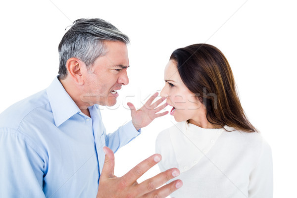 Stock photo: Angry couple arguing