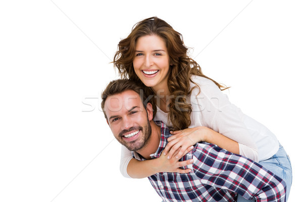 Férfi háton nő fehér női férfi Stock fotó © wavebreak_media