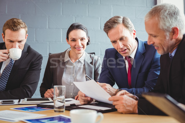 Konferans salonu iş kadın toplantı işadamı Stok fotoğraf © wavebreak_media
