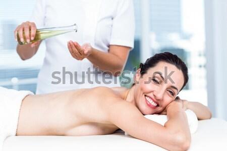 Portré mosolyog fiatal nő masszázs fürdő nő Stock fotó © wavebreak_media