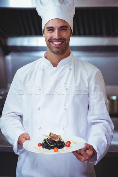 シェフ 皿 商業 キッチン 幸せ ストックフォト © wavebreak_media