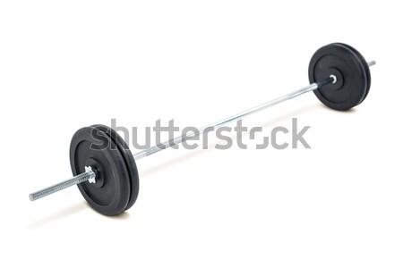 Barbell weights on white background Stock photo © wavebreak_media