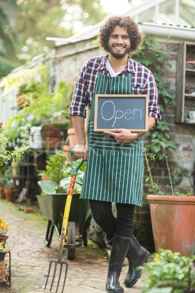 Masculino jardineiro jardinagem garfo Foto stock © wavebreak_media